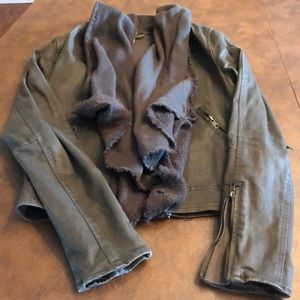Free people military style fitted jacket